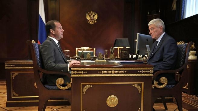 Встреча с руководителем Федеральной службы по финансовому мониторингу Юрием Чиханчиным
