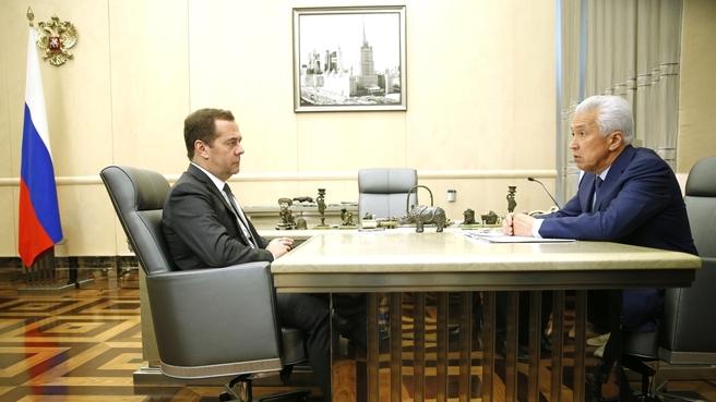 Встреча с главой Республики Дагестан Владимиром Васильевым