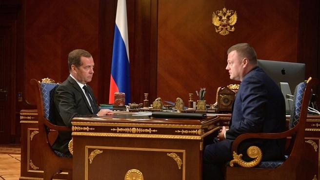 Встреча с главой администрации Тамбовской области Александром Никитиным