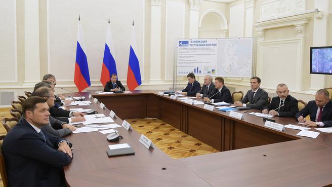 Селекторное совещание о газификации регионов