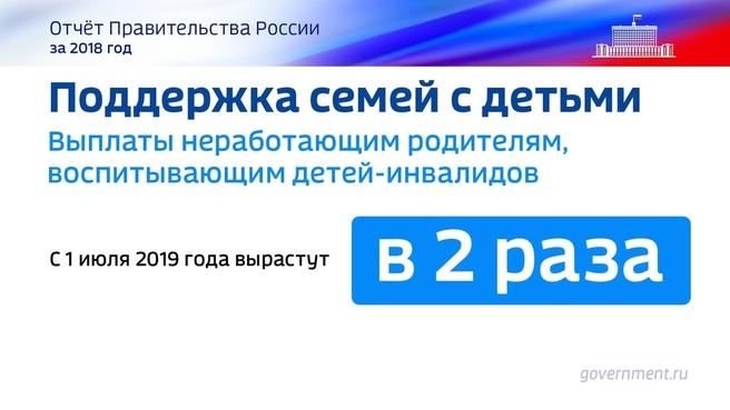 К отчёту о результатах деятельности Правительства России за 2018 год. Слайд 17