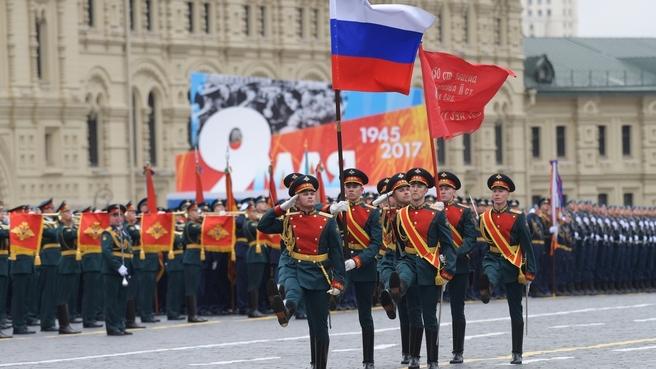 Военный парад в честь 72-й годовщины Победы в Великой Отечественной войне. Фото РИА Новости