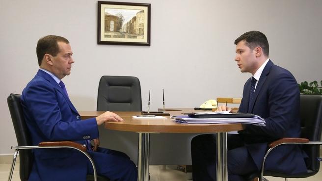 Встреча с губернатором Калининградской области Антоном Алихановым