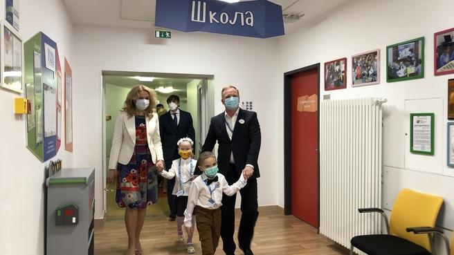 Татьяна Голикова поздравила учеников госпитальных школ с Днём знаний
