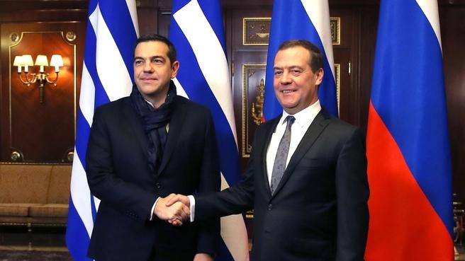 Встреча с Премьер-министром Греческой Республики Алексисом Ципрасом