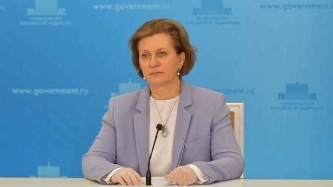 Anna Popova at the briefing