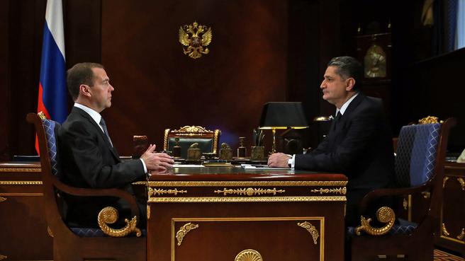Встреча с Председателем коллегии Евразийской экономической комиссии Тиграном Саркисяном
