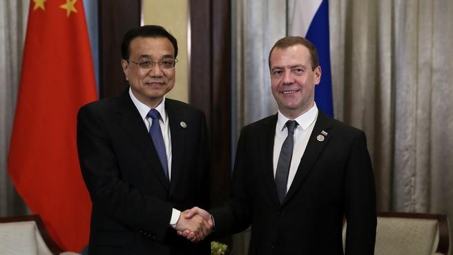 Беседа с Премьером Госсовета Китайской Народной Республики Ли Кэцяном