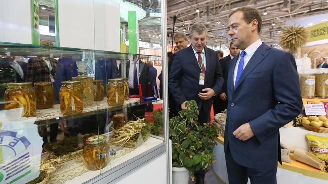 Осмотр экспозиции 19-й российской агропромышленной выставки «Золотая осень»
