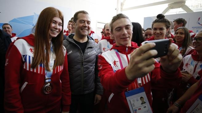 Встреча с тренерами и студентами-членами спортивной сборной команды России