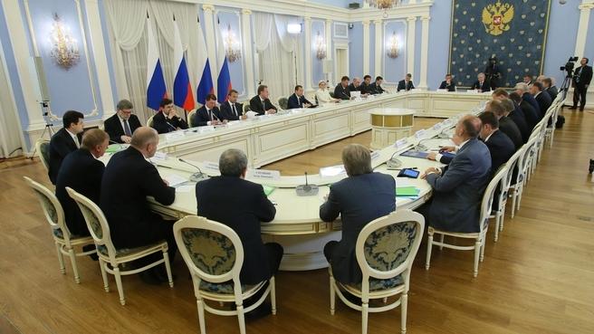 Встреча с членами Общероссийского объединения работодателей «Российский союз промышленников и предпринимателей» (РСПП)