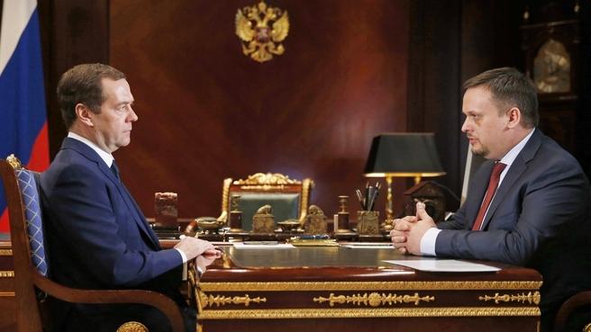 Встреча с временно исполняющим обязанности губернатора Новгородской области Андреем Никитиным