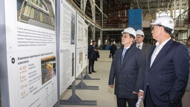 Дмитрий Григоренко и Марат Хуснуллин осмотрели строящийся аэровокзальный комплекс аэропорта Южно-Сахалинска