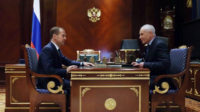 Встреча с государственным секретарём Союзного государства России и Белоруссии Григорием Рапотой