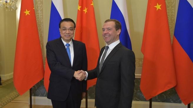Беседа с Премьером Государственного совета КНР Ли Кэцяном