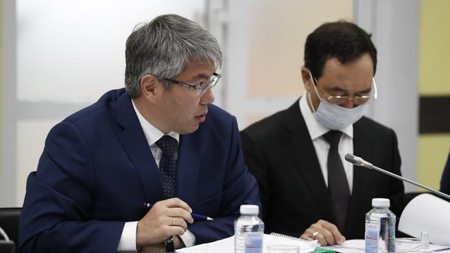 Глава Республики Бурятия Алексей Цыденов на заседании Правительственной комиссии по социально-экономическому развитию Дальнего Востока
