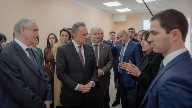 Брифинг Виталия Мутко по завершении заседания Межправительственной комиссии по социально-экономическому сотрудничеству России и Абхазии