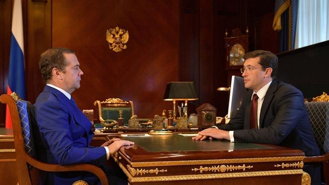 Встреча с временно исполняющим обязанности губернатора Нижегородской области Глебом Никитиным