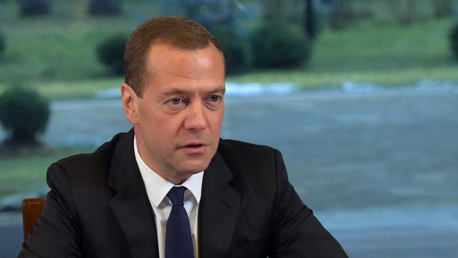 Дмитрий Медведев на встрече с активом Общероссийского народного фронта