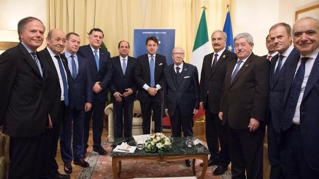 Встреча перед пленарным заседанием конференции по Ливии