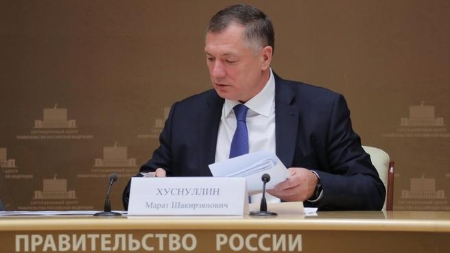 Марат Хуснуллин провёл рабочую встречу с губернатором Ростовской области Василием Голубевым