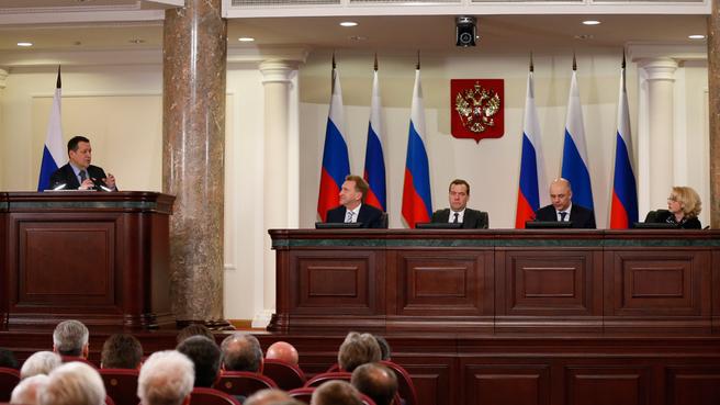 Сообщение председателя Комитета Госдумы по бюджету и налогам Андрея Макарова