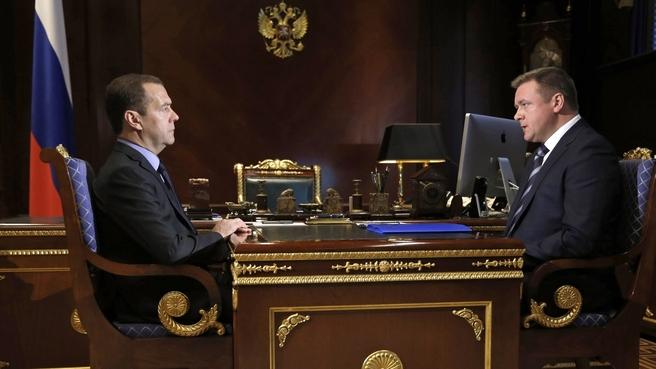 Встреча с временно исполняющим обязанности губернатора Рязанской области Николаем Любимовым