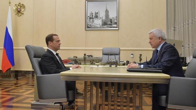 Встреча с президентом ПАО «ЛУКОЙЛ» Вагитом Алекперовым