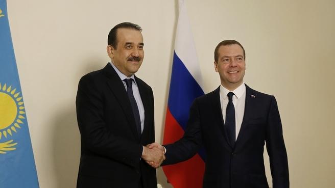 Meeting with Prime Minister of Kazakhstan Karim Massimov