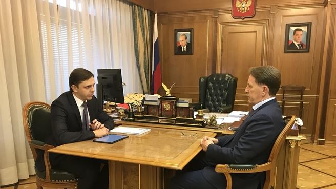 Встреча Алексея Гордеева с губернатором Орловской области Андреем Клычковым