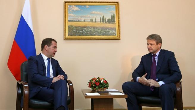 Встреча с губернатором Краснодарского края Александром Ткачёвым