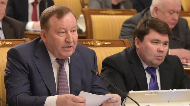 Сообщение губернатора Алтайского края Александра Карлина на заседании Правительства