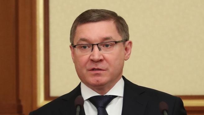 Доклад Владимира Якушева на заседании Правительства