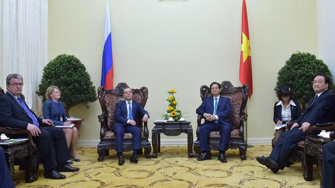 Встреча с Премьер-министром Социалистической Республики Вьетнам Нгуен Тан Зунгом
