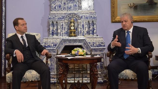 Встреча с Премьер-министром Алжира Абдельмалеком Селлялем