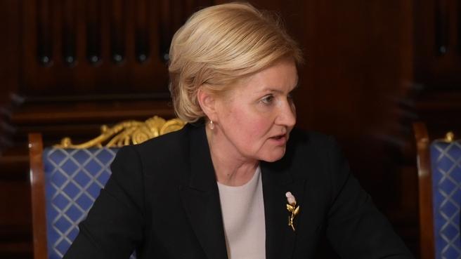 Сообщение Ольги Голодец на совещании с вице-премьерами