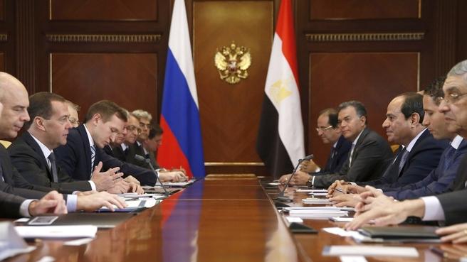 Встреча с Президентом Египта Абдельфаттахом Сиси