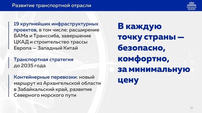 К отчёту о результатах деятельности Правительства России за 2020 год. Слайд 12