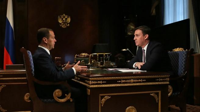 Встреча с председателем правления Россельхозбанка Дмитрием Патрушевым