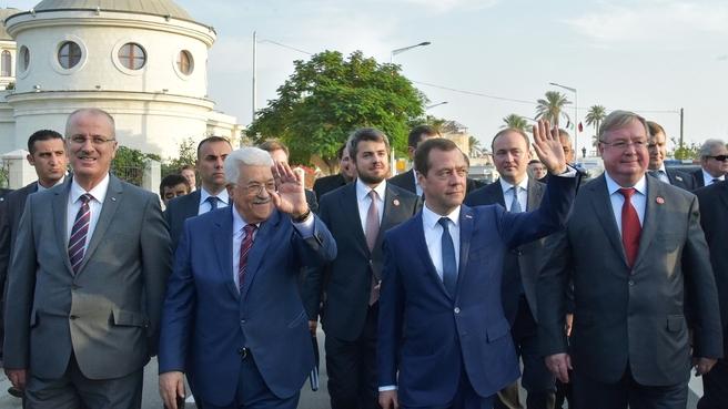 Визит Дмитрия Медведева в Палестину