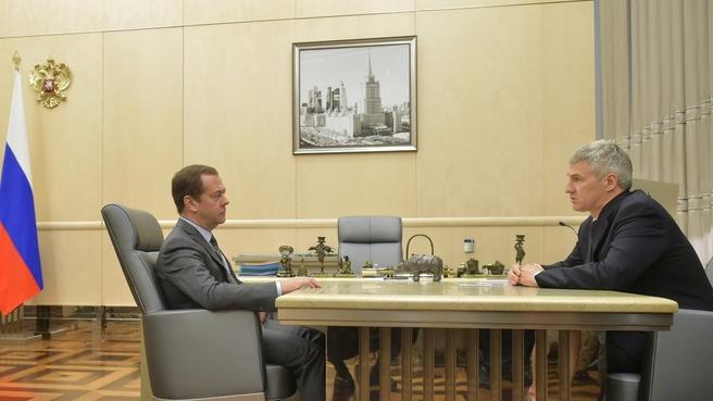 Встреча с временно исполняющим обязанности главы Республики Карелия Артуром Парфенчиковым