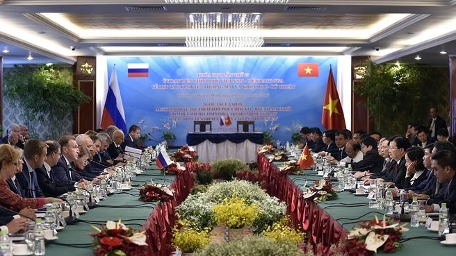 Заседание Межправительственной Российско-Вьетнамской комиссии по торгово-экономическому и научно-техническому сотрудничеству