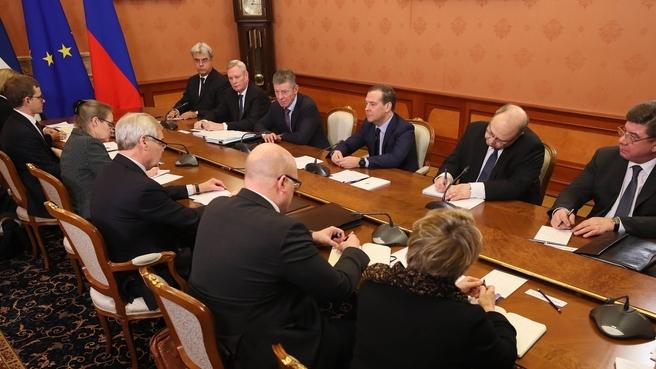Встреча с Премьер-министром Финляндской Республики Антти Ринне