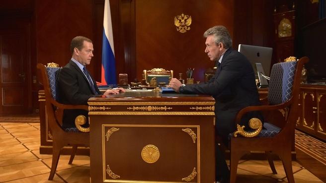 Встреча с председателем Внешэкономбанка Сергеем Горьковым
