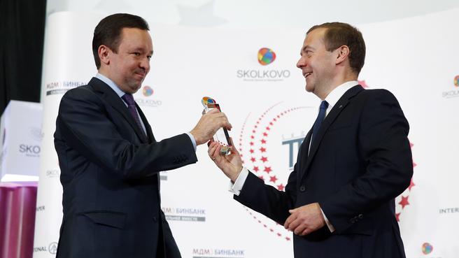 Вручение премий SKOLKOVO Trend Awards 2015. С Премьер-министром Республики Татарстан Ильдаром Халиковым