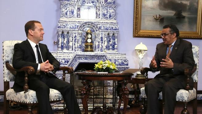 Встреча с Генеральным директором Всемирной организации здравоохранения Тедросом Адханомом