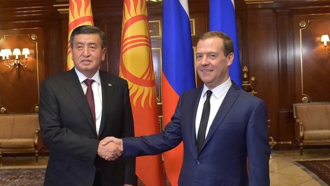 Встреча с Президентом Киргизской Республики Сооронбаем Жээнбековым