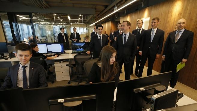 Осмотр правительственного комплекса на территории Московского международного делового центра «Москва-Сити»