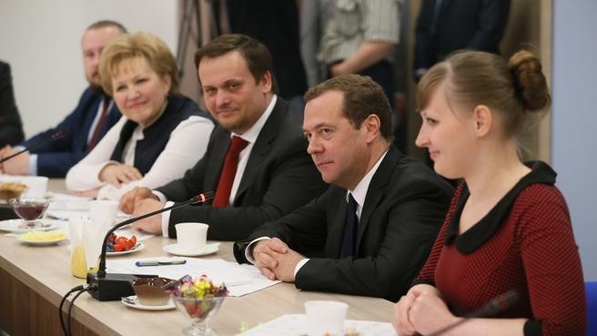 Встреча с представителями молодёжи Новгородской области