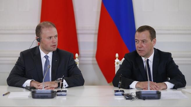 Заявления Дмитрия Медведева и Джозефа Муската для прессы